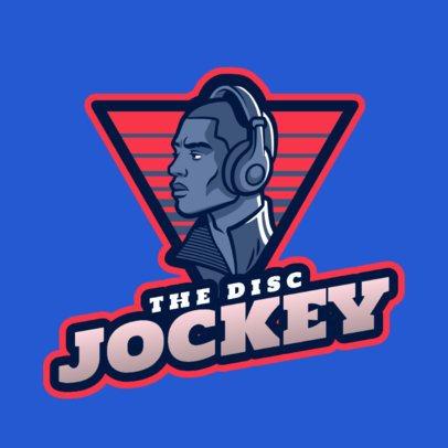 Logo Maker Featuring a Disc Jockey Character 2656a