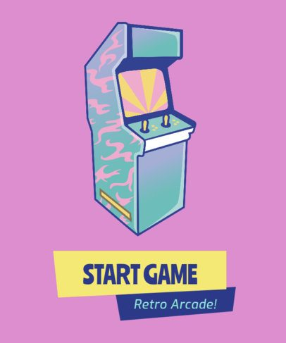 Retro T-Shirt Design Maker with an Arcade Machine Graphic 1963b