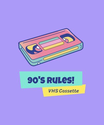 Colorful Retro T-Shirt Design Generator with a Cassette Illustration 1963c