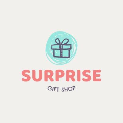 Gift Shop Logo Maker Featuring a Present Clipart 139f 72-el
