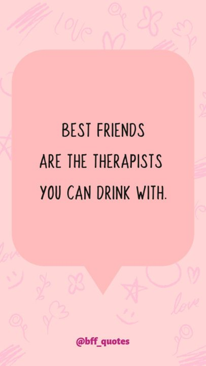 Instagram Story Maker for a Valentine's Day Friendship Quote 609k 1955