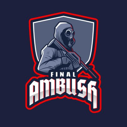 Rainbow Six Siege-Themed Logo Creator with a Masked Assassin 2663n-2665