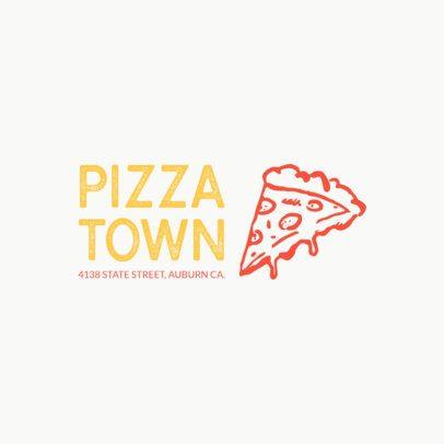 Italian Food Logo Maker Featuring a Pizza Slice Clipart 989g 36-el