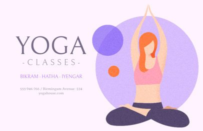 Flyer Template for a Yoga Class 1978b