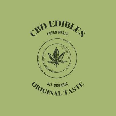 CBD Edibles Logo Maker Featuring a Marijuana Leaf Graphic 2647f