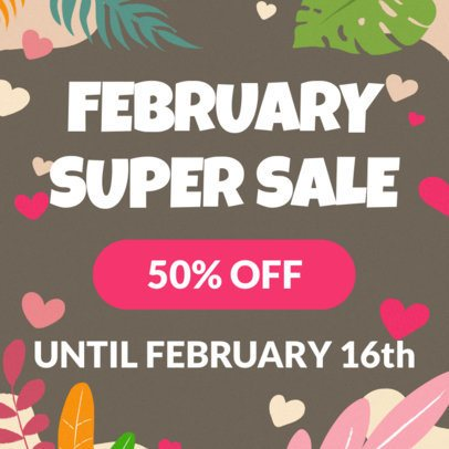 Banner Template for a Special Valentine's Day Discount 278g 1958