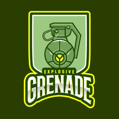 Logo Template in the style of Rainbow Six Siege with a Grenade Graphic 2663o-2665