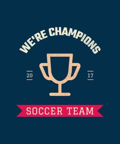 Sports T-Shirt Design Template for a Soccer Team 104a-el