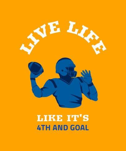 Sports T-Shirt Design Maker Featuring a Football Player Throwing a Ball 1973e