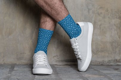 Mockup of a Man with Customizable Socks 29546