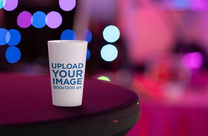 Reusable Cup Mockup Featuring a Blurry Background 30246