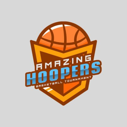 Sports Logo Template for a Basketball Tournament 2703e