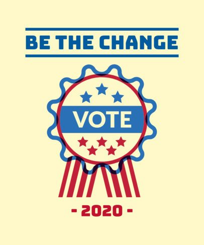 Elections T-Shirt Design Generator Encouraging People to Vote 1990b
