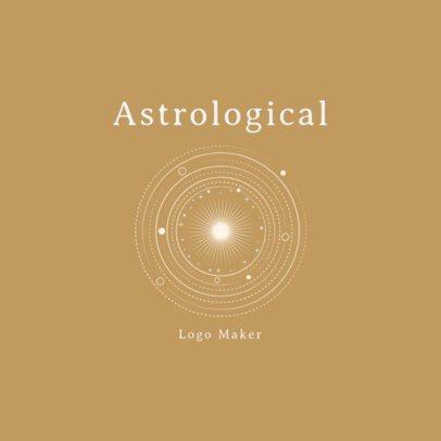 Astrological Logo Generator Featuring a Solar System 2662h