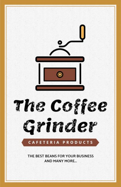 Online Flyer Maker for a Coffee Products Company 390f-158-el