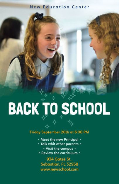 Back-To-School Flyer Maker for an Open House Event 119f