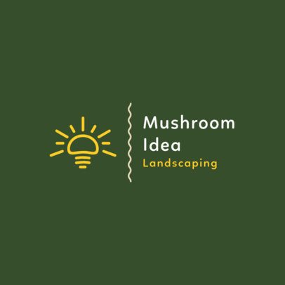 Landscaping Logo Maker with a Clever Mushroom Icon 1425f-176-el