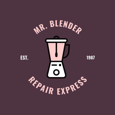 Handyman Logo Creator with a Blender Clipart 1427g-143-el