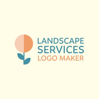 Logo Maker for a Gardening Company with an Abstract Flower Graphic 1435j 2697
