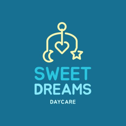 Online Logo Creator for a Daycare 1177g 136-el
