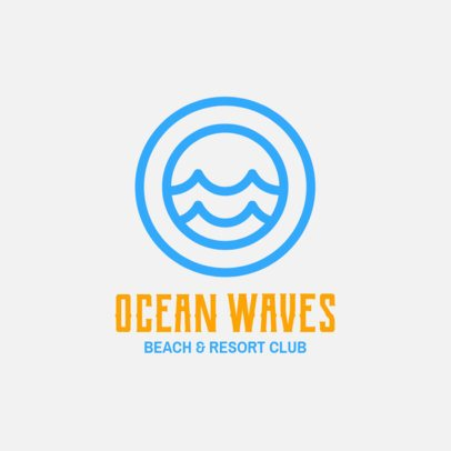 Online Logo Template for Beach Resorts 1762i 150-el