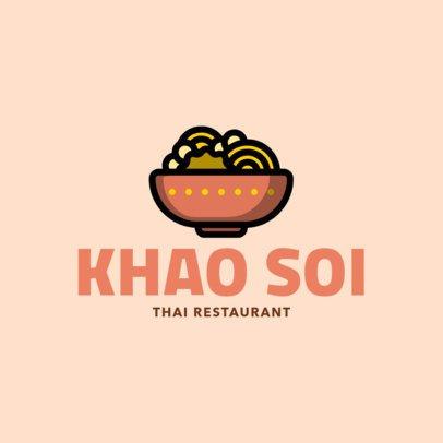 Modern Logo Template for a Thai Restaurant 1844f-208-el