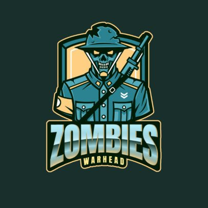 Gaming Logo Maker Featuring a Zombie Soldier Inspired by Call of Duty 2734a
