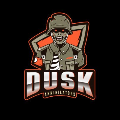 Logo Creator Featuring a Zombie Character in the Style of COD 2734j