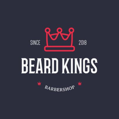 Online Logo Maker for a Barbershop Featuring a Crown Clipart 1123f 209-el