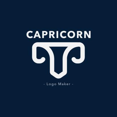 Zodiac Logo Design Template Featuring an Capricorn Sign Icon 2662k-230-el