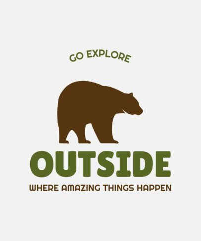 Adventure-Themed T-Shirt Design Maker with a Bear Icon 57b-el