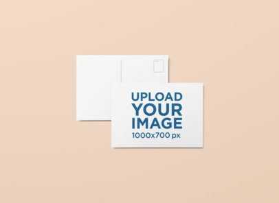 Mockup of a Postcard Overlapping Another One 1229-el
