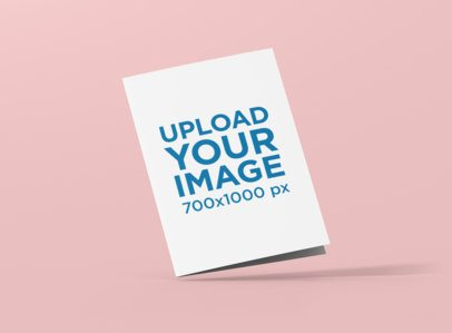 A5 Bifold Brochure Mockup with a Customizable Background 1370-el