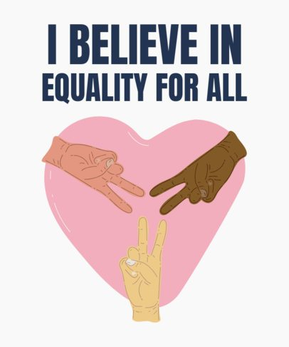 Social Cause T-Shirt Design Template for Equality 2021