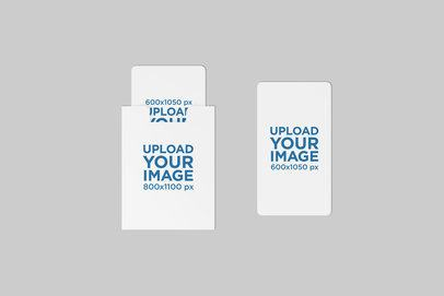 Mockup of a Set of Gift Cards Placed on a Customizable Background 1485-el