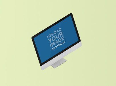 Minimal iMac Mockup Featuring a Customizable Background 1287-el