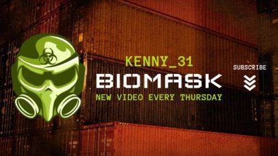 PUBG-Inspired YouTube Banner Maker with a Biohazard Mask Illustration 1982e-2069