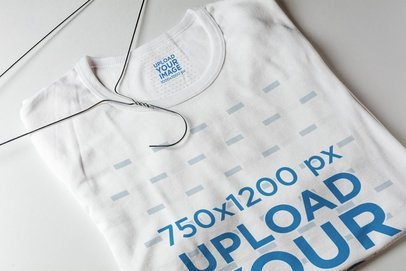 Inside Label Mockup Featuring a Customizable T-Shirt 1667-el