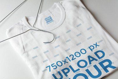 Inside Label Mockup Featuring a Customizable T-Shirt 1667-el