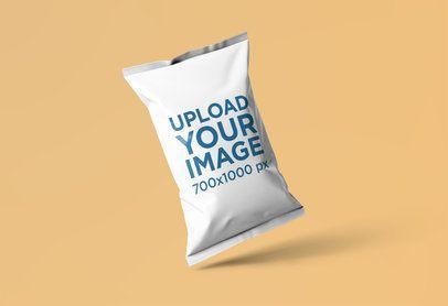 Mockup of a Chips Bag Against a Plain Background 1539-el1