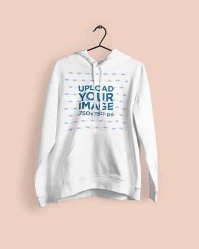 Mockup of a Pullover Hoodie Hanged on a Plain Background 1798-el1