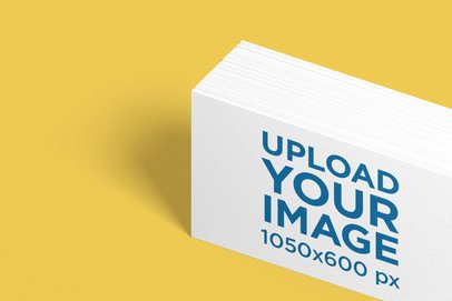 Mockup of a Bunch of Business Cards on a Flat Surface 1689-el