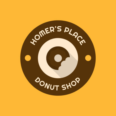 Bakery Logo Maker with a Circular Badge and Minimalistic Icons 280-el