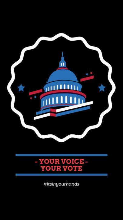 Political Instagram Story Maker Featuring an American Capitol Graphic 2059d