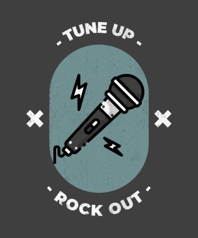 Rocking T-Shirt Design Template 314b-el