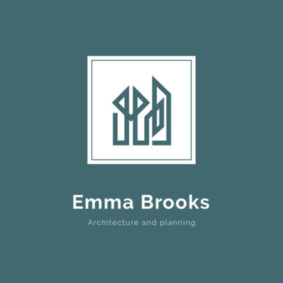 Elegant Logo Generator for Architects with Abstract Graphics 1420m 2796