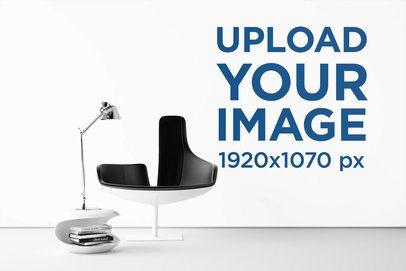 Art Print Wall Mockup Featuring a Modern Reading Chair 2210-el1