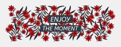 Mug Design Template Featuring Floral Graphics 2116
