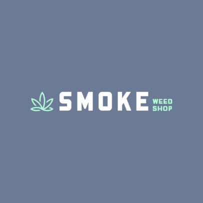 Marijuana Dispensary Logo Maker with a Minimalist Icon 386b-395-el1