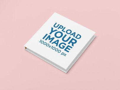 Studio Mockup of a Square Hardcover Book 30932